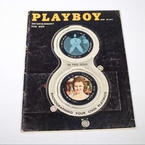 Vintage 50s Playboy Magazine June 1958 Collectible
